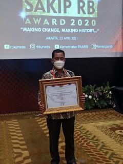Pemkab Samosir Kembali Raih  Predikat Sangat Baik Pada Sakip Award 2020 dari Kementerian PAN-RB