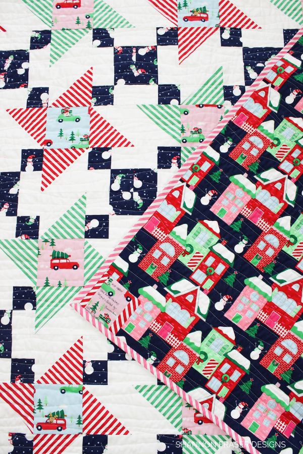 Home for the holidays quilt | A modern Christmas quilt by Shannon Fraser Designs
