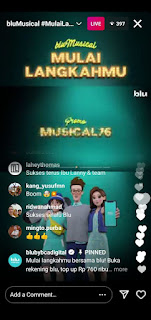 Asyiknya Nonton bluMusical di Instagram