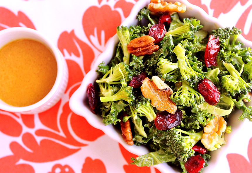Broccoli Kale Superfood Salad- Explore the superfoods of the month, broccoli and salmon along with some healthy living tips from #SamsClubMag AD