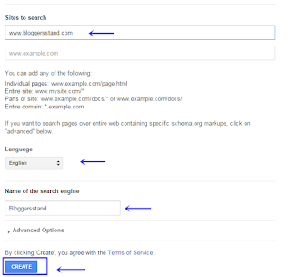 Creating cse google search engine