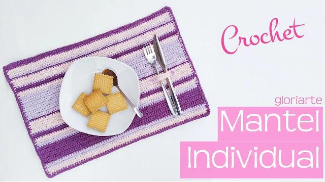 Tutorial de Individual Mantel Tejido a Crochet