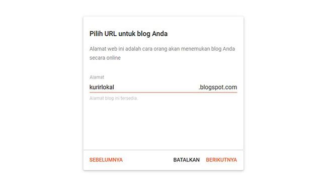 Buat URL Blog