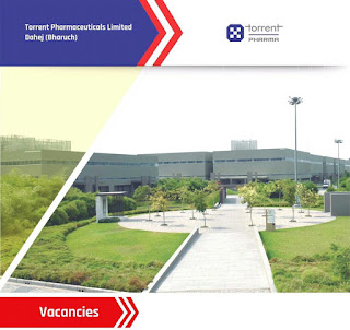 ITI and M. Pharm and Torrent Pharmaceuticals Limited in Manufacturing Manufacturing Dahej, Bharuch Gujarat