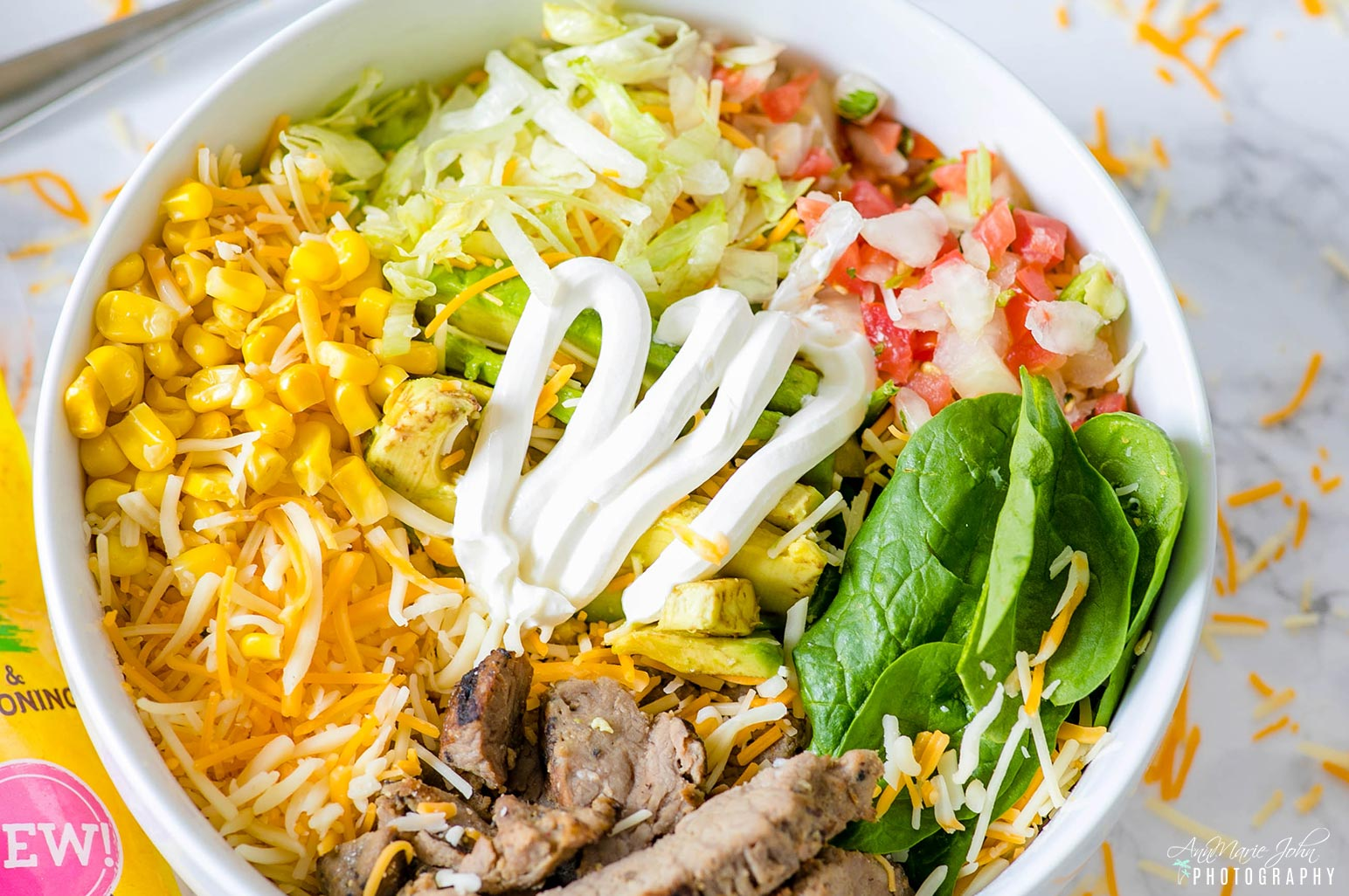 Burrito Bowl Made with Old El Paso Cheese