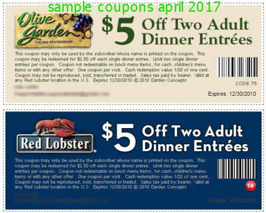 Discount coupons for olive garden