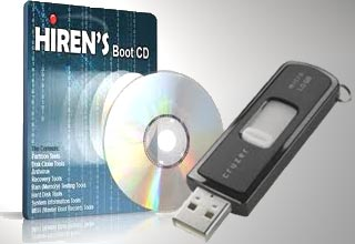Hiren's BootCD From USB Flash Drive (USB Pen Drive)