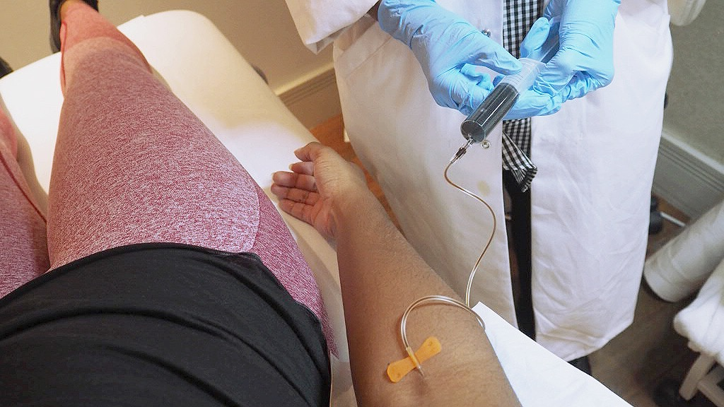 Being treated at Vitamin Injections London