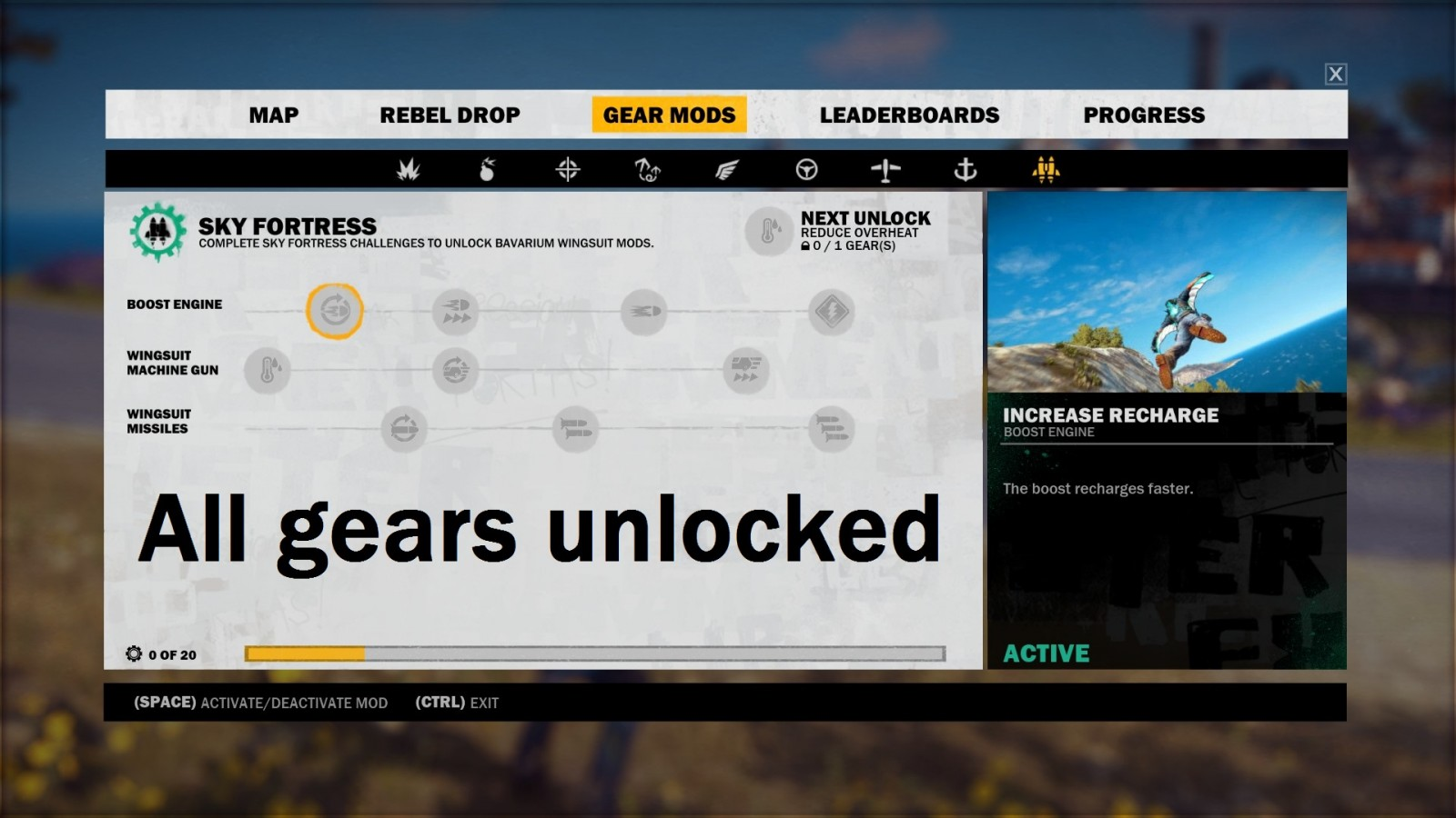 All Gears Unlocked Bavarium Wingsuit Mods
