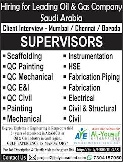 Supervisors for Oil & Gas Company