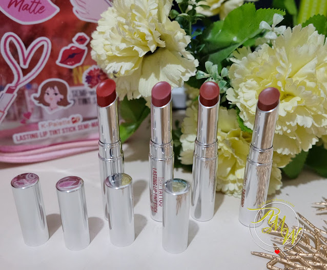 K-Palette Lasting Semi-Matte Lip Tint Sticks Review by Nikki Tiu of askmewhats.com