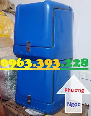 Thùng giao hàng loại nhỏ, thùng chở linh kiện, thùng giao đồ ăn sau xe máy TGHN3