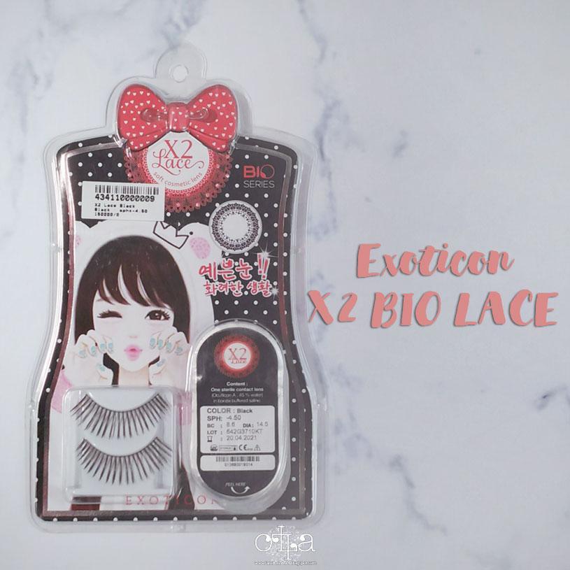 X2 Bio Lace Softlens Review Kemasan Luar