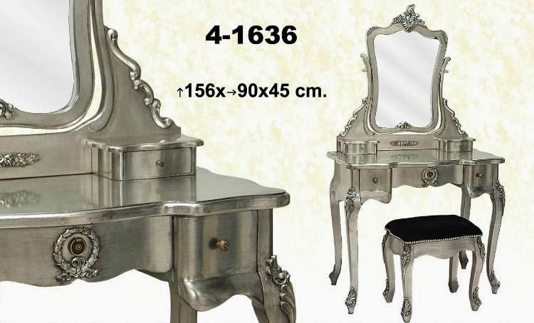 mesa tocador plata, mesa de vestir