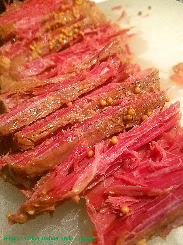 this is cooked corned beef made in a slow cooker