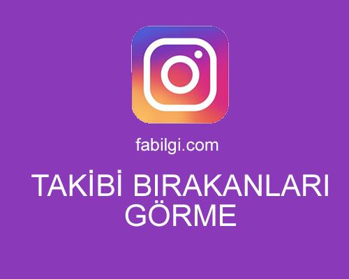 Instagram Takibi Bırakanları Görme Uygulaması Ios Android 2021
