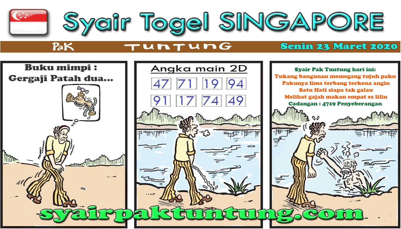 Prediksi Togel Singapura Senin 23 Maret 2020 - Prediksi SGP Pak Tuntung