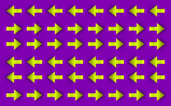 Optical Illusion of moving Arrows