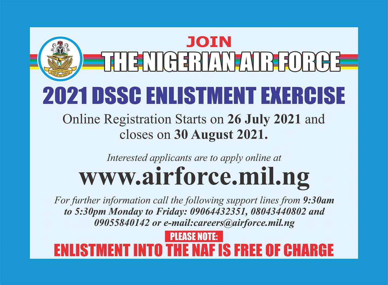 NAF DSSC Enlistment Exercise Guidelines 2021/2022
