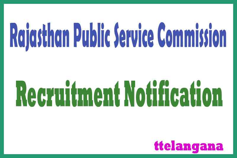 RPSC Rajasthan Public Service Commission Recruitment Notification