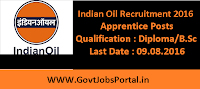Indian Oil Recruitment 2016