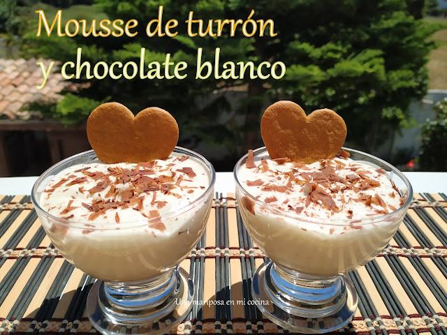 Mousse De Turrón Y Chocolate Blanco