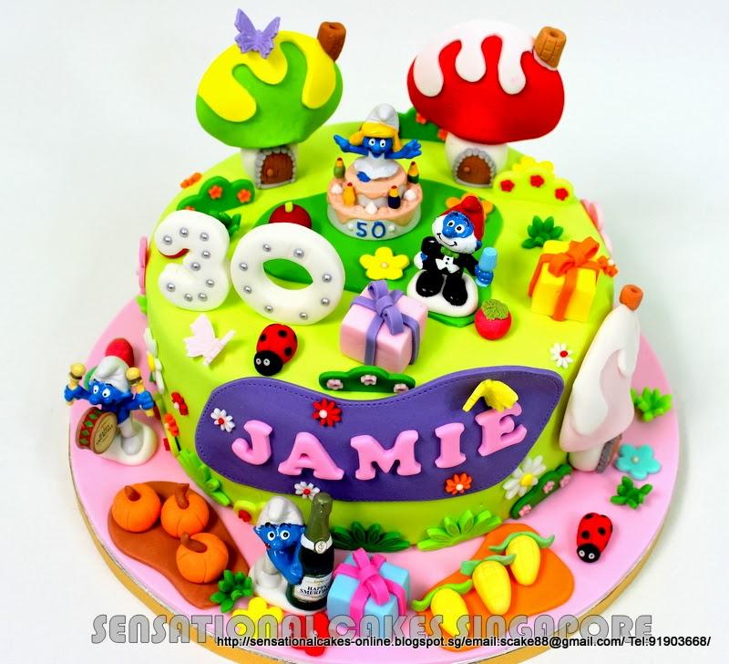 Smurf Birthday Cake Singapore