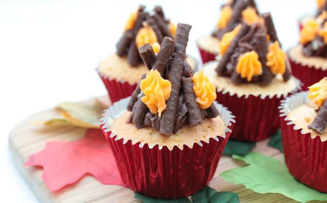 crackling bonfire cupcakes