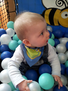 ball pit, baby in ball pit