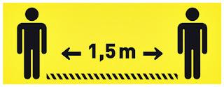 Houd 1,5m afstand