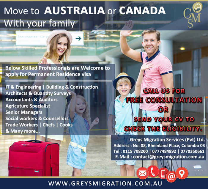 Greys Migration Services Sri Lanka   Move to Australia or Canada with your family.