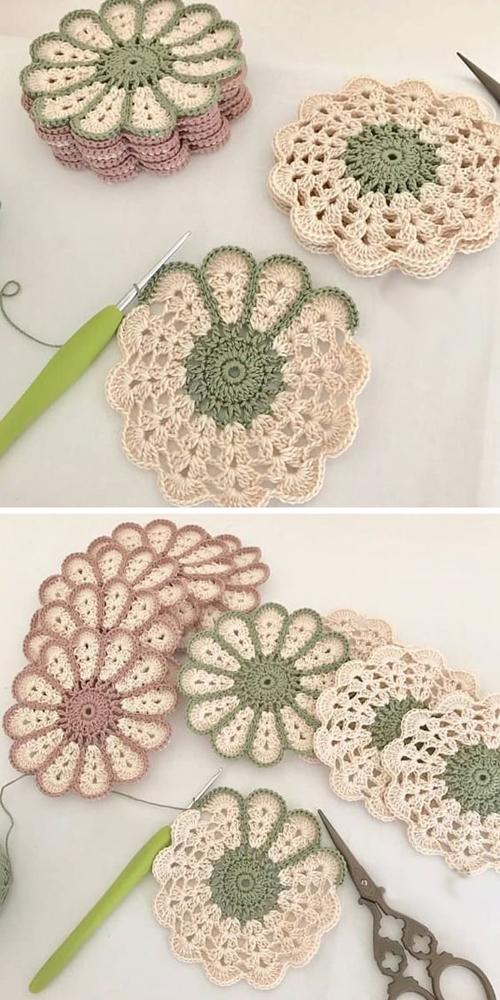 Camomile Potholder - Free Crochet Pattern