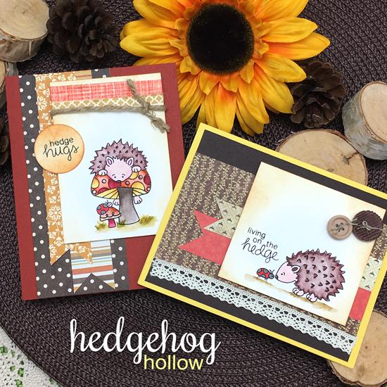 Hedgehog Cards by Jennifer Jackson | Hedgehog Hollow Stamp set by Newton's Nook Designs #newtonsnook #hedgehog