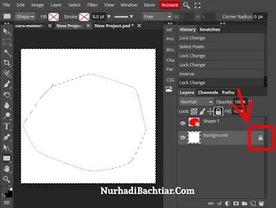 cara memotong gambar di photoshop dengan pentool 3