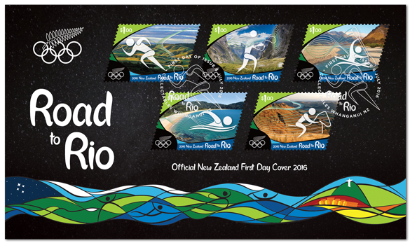 Virtual New Zealand Stamps 2016 Road To Rio