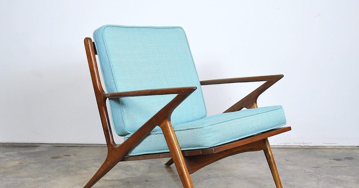 Select Modern Poul Jensen For Selig Style Teak Z Lounge Chair