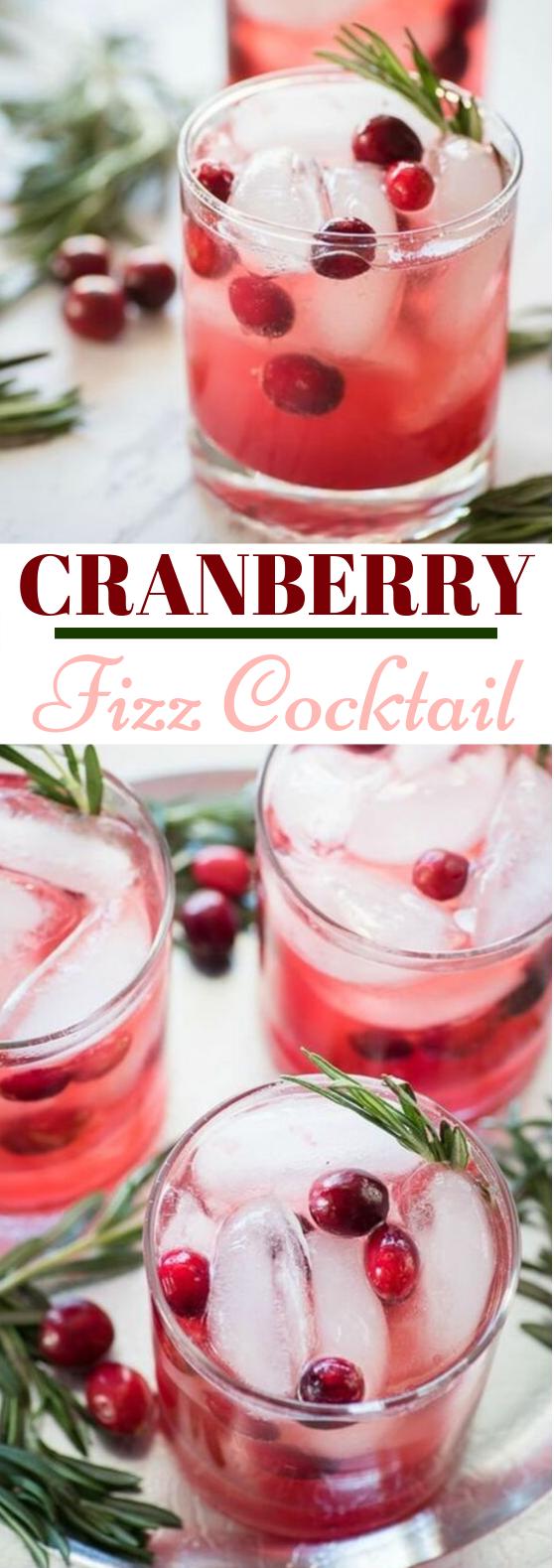 Cranberry Fizz Cocktail #drinks #cocktails