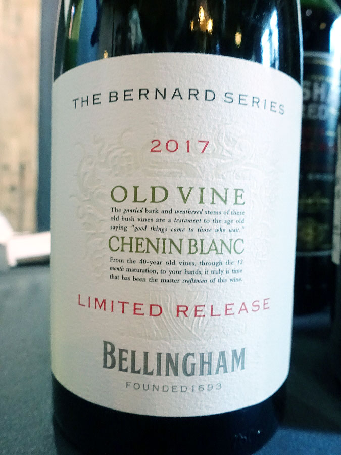 Bellingham The Bernard Series Old Vine Chenin Blanc 2017 (90 pts)