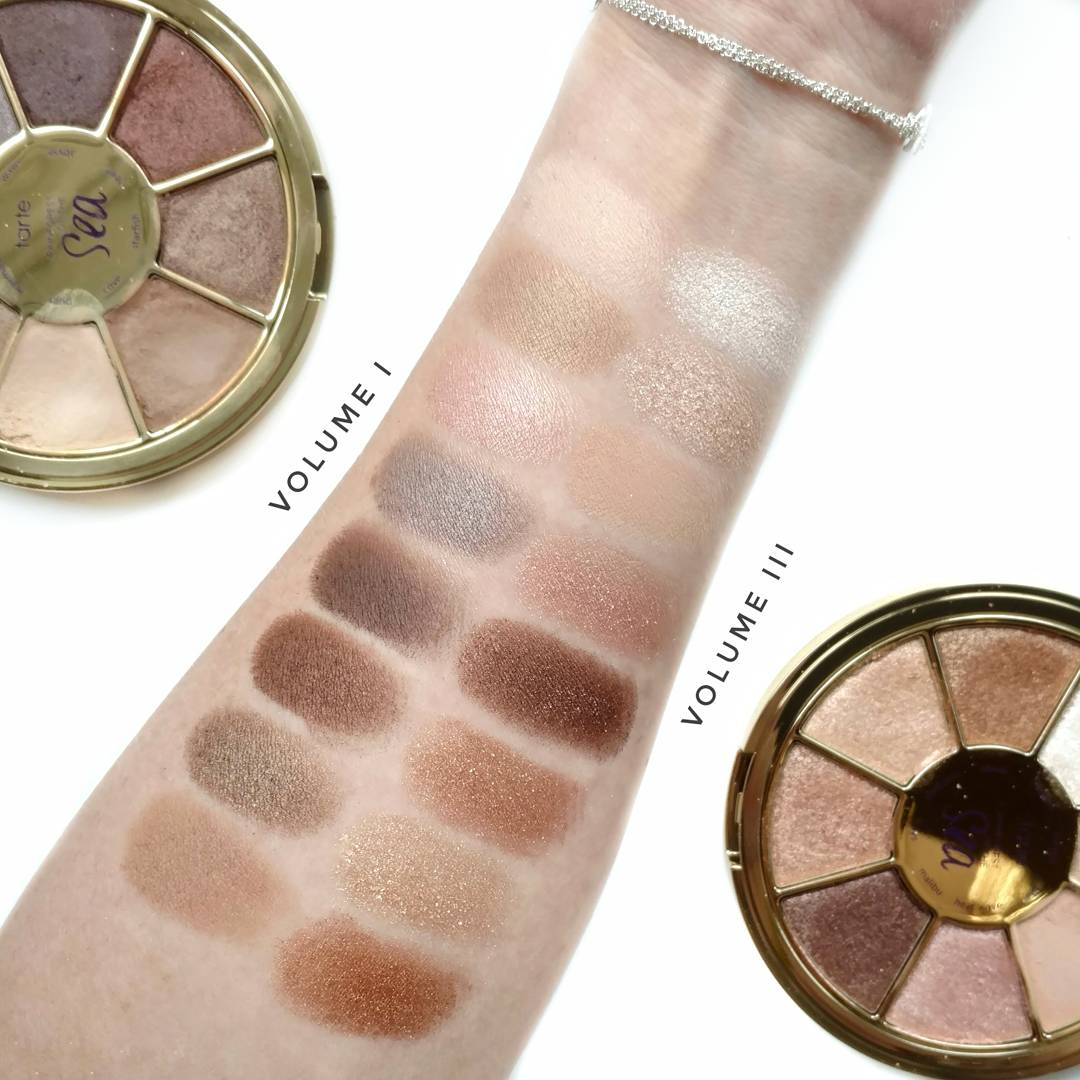 tarte rainforest of the sea volume i and iii swatches