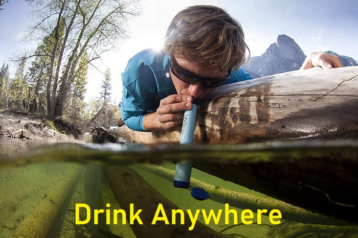LifeStraw Personal Water Filter for Hiking, Camping, or Prepping
