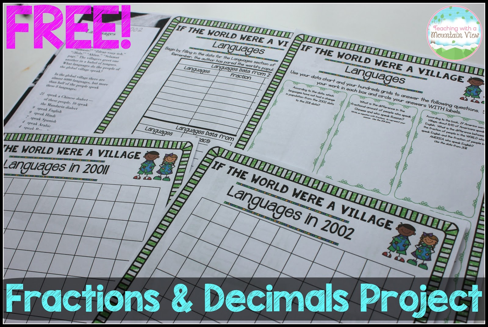 Teaching With A Mountain View Fractions And Decimals Project