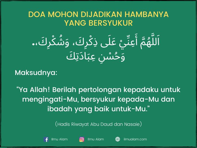 doa ketika salam ke kanan dan ke kiri