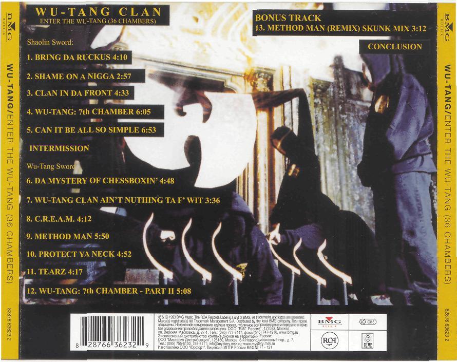 Hip Hop Enfermizo: Wu Tang Clan - Enter The Wu-Tang-36 ...