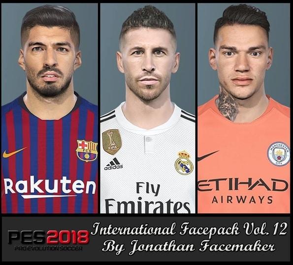 PES 2018 International Facepack Vol 12