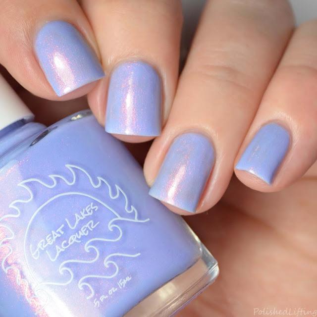 periwinkle shimmer nail polish