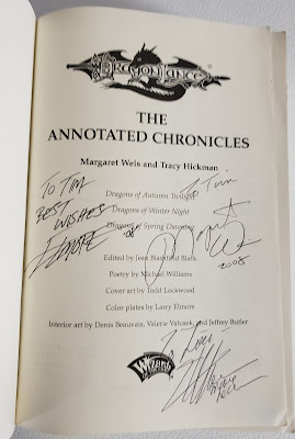 Dragonlance Chronicles signed