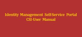 IM Portal | Identity Management Self-Service Portal User Manual of India Post