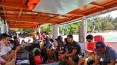 Kapal yang mengangkut penumpang ke Gili Trawangan