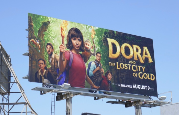 Dora Lost City of Gold movie billboard