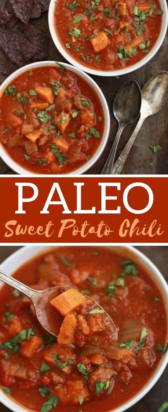 Paleo Sweet Potato Chili #healthy #soup #paleo #chili #whole30
